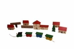 Village With Railway Station (Set of 10) - Ebert GmbH