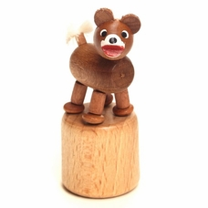 Wobbly Bear Push Toy - Dregeno Seiffen