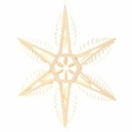 Wooden Star Ornament 104 (13 Inches) - Martina Rudolph