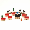 Wooden Village Scene (Set of 17) - Dregeno Seiffen