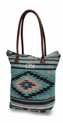 Aztec Pattern Embroidered Tote Bag