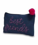 Best Friend Cosmetic Bag | Embroidered