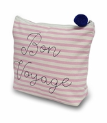 Bon Voyage Cosmetic Bag | Embroidered
