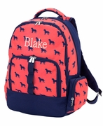 Boys Backpack Name Monogram | Dog Pattern