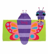 Butterfly Hooded Beach Towel | Personalized | Embroidered