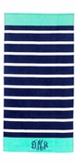 Cabana Stripe Beach Towel - Monogram