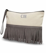 Canvas Accessory Wristlet Fringed | Monogram