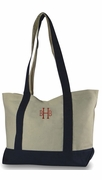 Canvas Boat Shoulder Tote Bag | Monogram | Personalized