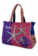 Canvas Starfish Beach Tote | Embroidered | Monogram