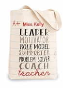 Canvas Teacher Carry All Tote Bag