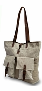 Canvas Two Pocket Tote Bag