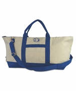 Canvas Weekender Duffle Bag | Monogram