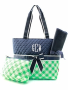 Check Diaper Bag | Monogram | Personalized
