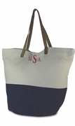 Color Block Bucket Tote - Monogram