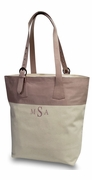 Color Block Canvas Tote Bag | Monogrammed