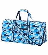 Cool Blue Camo Duffel Bag - Personalized