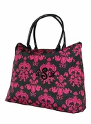 Damask Tote Personalized