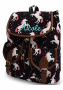 Embroidered Campus Backpack | Unicorn