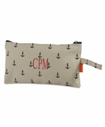 Embroidered Canvas Cosmetic Bag | Personalized