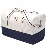 Embroidered Canvas Duffle Bag