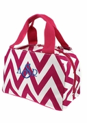 Embroidered Chevron Lunch Tote | Personalized - 4 Colors