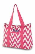 Embroidered Chevron Tote Bag