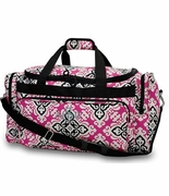 Embroidered Damask  Medallion Travel Tote