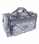 Embroidered Damask Travel Tote