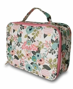 Embroidered Floral Lunch Bag