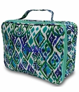 Embroidered Ikat Lunch Tote Bag