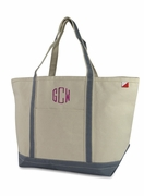 Extra Large Canvas Boat Tote | Personalized