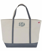 Extra Large Canvas Boat Tote | Personalized -3 Colors
