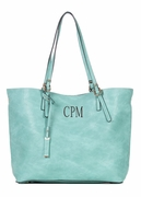 Faux Leather Tote Bag | Monogram | Personalized | 5 colors