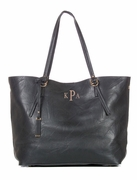Faux Leather Tote Bag | Monogram | Personalized