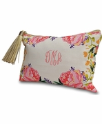 Floral Pattern Cosmetic Bag | Monogrammed