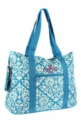 Floral Travel tote - Embroidered