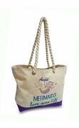 Girls Mermaid Cute Cotton Tote