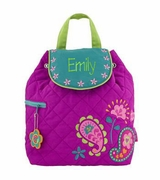 Girls Monogrammed Backpack