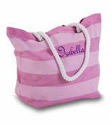 Girls Striped Cute Cotton Tote