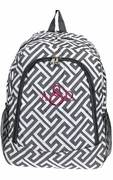 Greek Key Pattern Backpack
