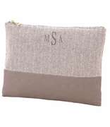 Herringbone Accessory Pouch Monogram
