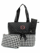 Houndstooth Check Diaper Bag | Monogram | Personalized