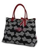 Houndstooth Quilted Tote Bag | Monogrammed
