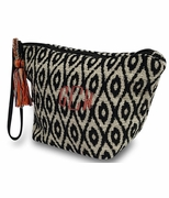 Ikat Textured Accessory Pouch | Monogram
