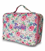 Insulated Floral Cooler Lunch Tote