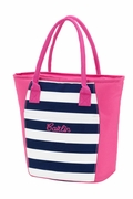 Insulated Tote Striped Cooler Tote