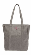 Ladies Grey Carry All Tote Bag