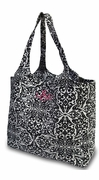 Large Damask Travel Tote Bag