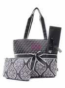 Medallion Diaper Bag | Monogram | Personalized
