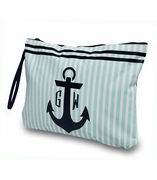 Monogram Anchor Stripe Cosmetic Bag -Wet/dry pouch